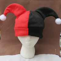 Harley Quinn Inspired Beanie Hat Costume Batman Inspired NEW Halloween