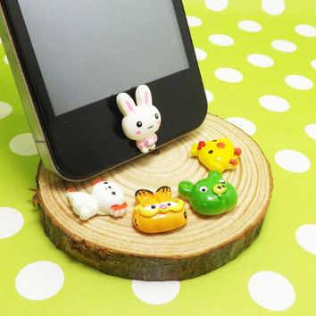 Cute Little Rabbit Dog Garfield Cat Pig Chicken DIY Home Button Sticker for Apple Products Such as iPhone 3,4/4s,5,ipad 2,3,4,itouch, iPod