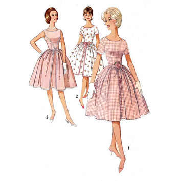 50s Rockabilly spring summer Rockabilly wedding or bridesmaid dress vintage sewing pattern Simplicity 4343 Bust 32