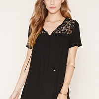 Lace-Paneled Dress