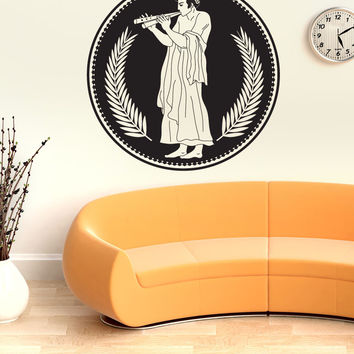 Vinyl Wall Decal Sticker Greek Flute Art #OS_DC704
