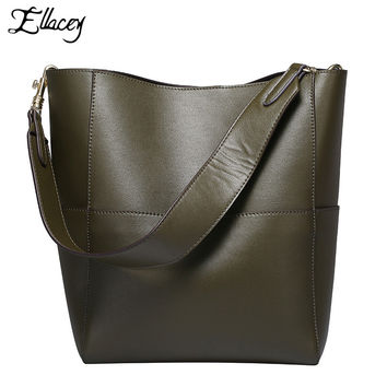 2016 Autumn New Genuine Leather Women Handbags Luxury Women Real Leather Shoulder Bag Vintage Handbag Fashion Designer Women Bag