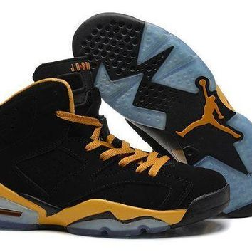 PEAPVX Jacklish Air Jordan Retro 6 Ovo Black Gold Online For Sale Cheap Price