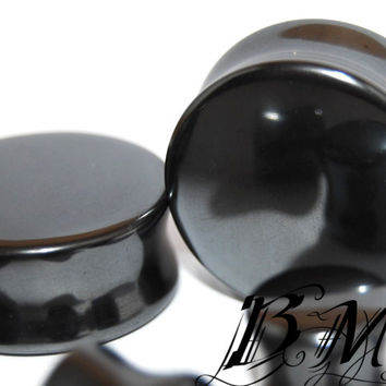Gun Metal Hematite Stone Plugs (3mm-25mm)
