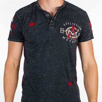 Affliction American Customs Wings Of Fury Henley