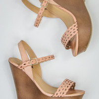 Crochet Wedges In Taupe