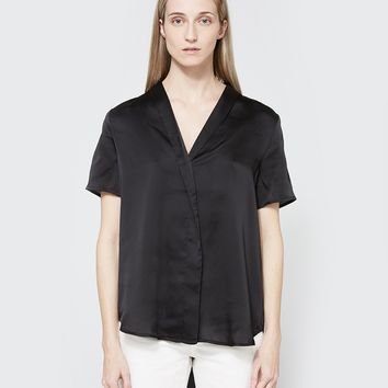 Farrow / Tuxedo Top in Black