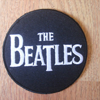 The Beatles Black White Iron on Patch, Applique, Sewing patch