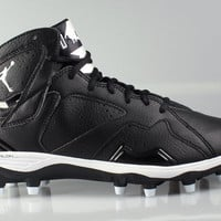 Air Jordan Men's 7 VII Retro TD Cleats Black White