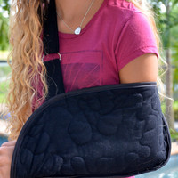 Black Quilted Arm Sling with Fun Pocket