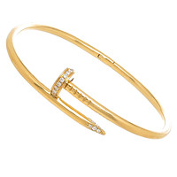 BeadyBoutique Love Nail Bracelet - Gold with Swarovski Crystal