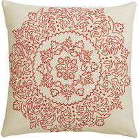 "henna embroidered 18"" pillow"
