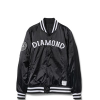 Diamond Supply Co. - Dugout Varsity Jacket - Black