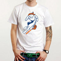 New Broncos Denver  Custom White T-Shirt Tee Size XS-XXL