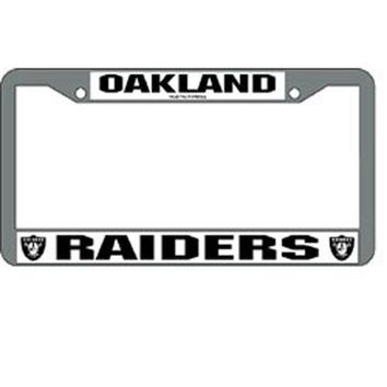 Oakland Raiders NFL Chrome License Plate Frame