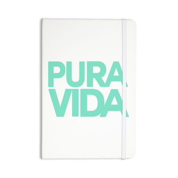 "Geordanna Cordero-Fields ""Turquoise Pura Vida"" Blue White Everything Notebook"