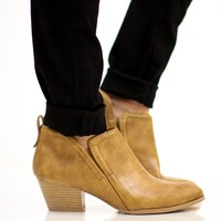 The Millie Ankle Bootie - Camel