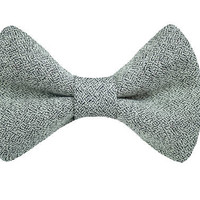 Jackson Charcoal Dog Collar Bow Tie - Pet Bow Tie