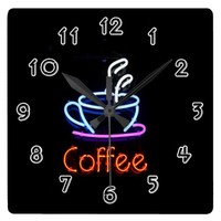 Coffee Square Wall Clock