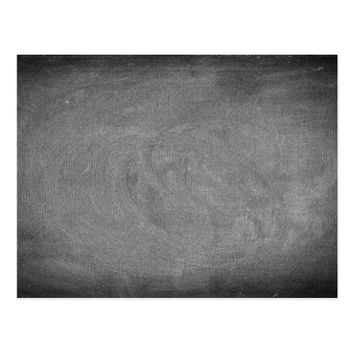 Black Grey Chalkboard Blackboard Background Postcard