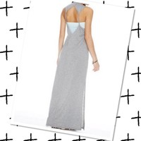 Open Twisted Back Maxi Sm Grey