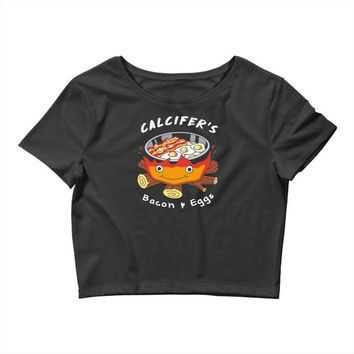 calcifer's bacon and eggs Crop Top