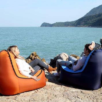 """""""Beautrip"""" Inflatable Outdoor Lounger  *Inflates in 3 seconds!"""