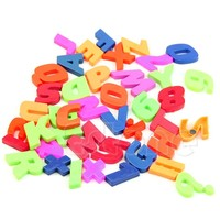 Magnets Teaching Alphabet Set Of 42 Colorful Magnetic Fridge Letters & Numbers