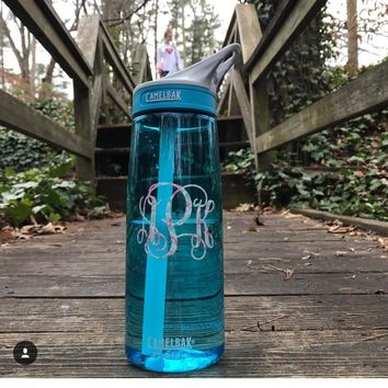 Lilly Inspired 25oz CamelBak Eddy Monogram Personalized Water Bottle