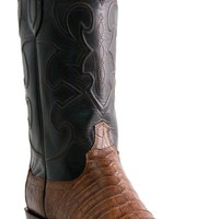"""Lucchese Since 1883 Mens Western with """"Milano"""" Cord Design Sienna Belly Crocodile M1635"""