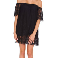 Care Free Summer Lace Shift Dress - Black