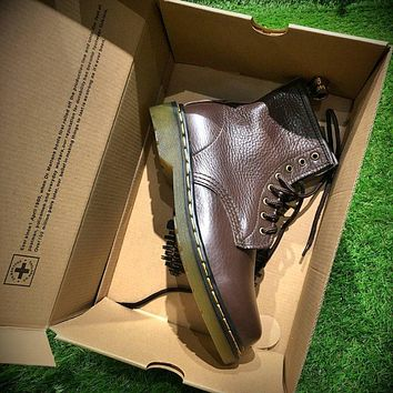 Sale Newest Dr. Martens Modern Classics 1460 Retro Brown Leather Boots 524952