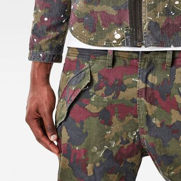 Rovic Camo Deconstructed Loose 1/2-Length Shorts | G-Star RAW®