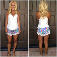 From Here To Paradise Smocked Shorts