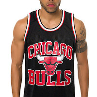 The Chicago Bulls Drop Step Mesh Tank in Black