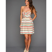 Parker Strapless Dress Tidal Wave - Zappos.com Free Shipping BOTH Ways