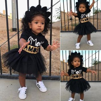 Toddler Infant Baby Girls Hooded T-shirt Tops Tutu Skirts Dress Outfits Clothes