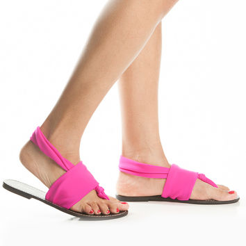 6824784ae Fabric Knotted Strap Sandals from CICI HOT