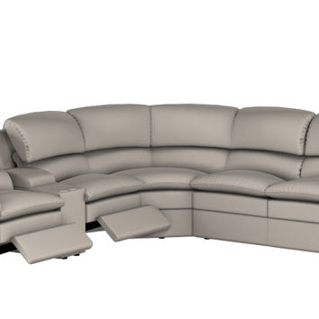 Large Recliner Sectional Fabric Sleeper Sofa with Console