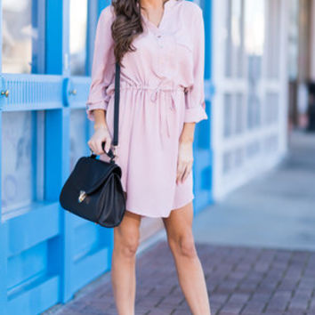 Close To Me Dress, Dusty Pink