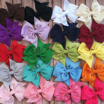 5 hair bows / 1.00 each / infant toddler/ by FallenStarCoutureInc