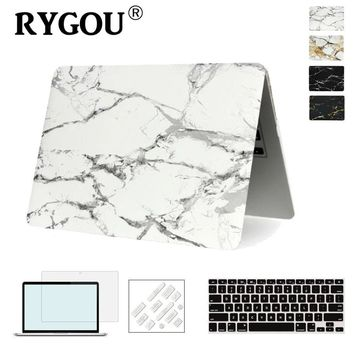 Marble Texture Cover Case For Apple Macbook Air Pro Retina 11 12 13 15 inch For New Mac book Pro 13 15 A1706 A1707 A1708 Case