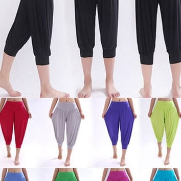 Women's Tights Capri Yoga Running Workout Leggings Pants = 1933285444