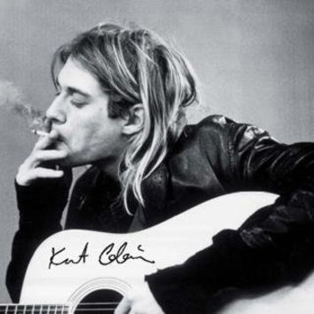 Kurt Cobain (Smoking) Music Poster Print