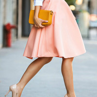 Pink High Waist City Skirt