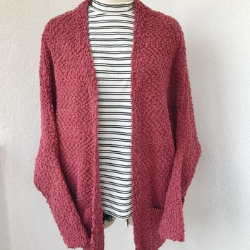 MADDY OVERSIZE CARDIGAN- PINK