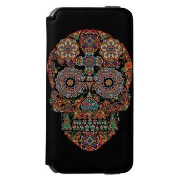 Flower Sugar Skull Incipio Watson™ iPhone 6 Wallet Case