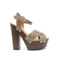 Dancing Instinct Heels In Taupe