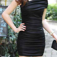 Black Bodycon Mini Dress