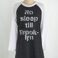 Urban Long 3 Give it Your All-nighter Tee in Charcoal
